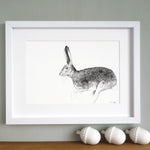 Hare Print 'The Runners no.4'