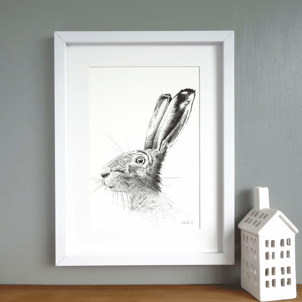 Hare Print 'The Runners no.3'