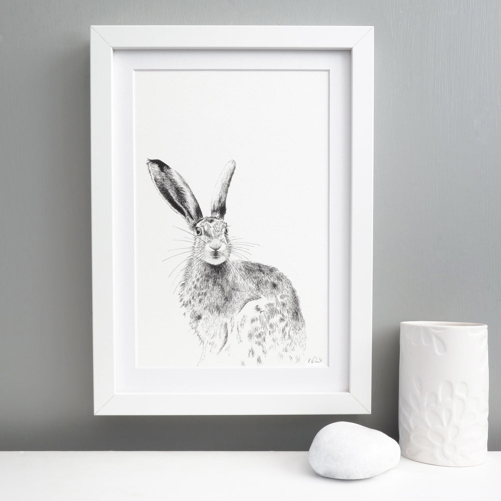 Hare Print 'The Runner's no.8'