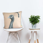 Bird Cushion 'The Grandiose Peahen' - Favourite!