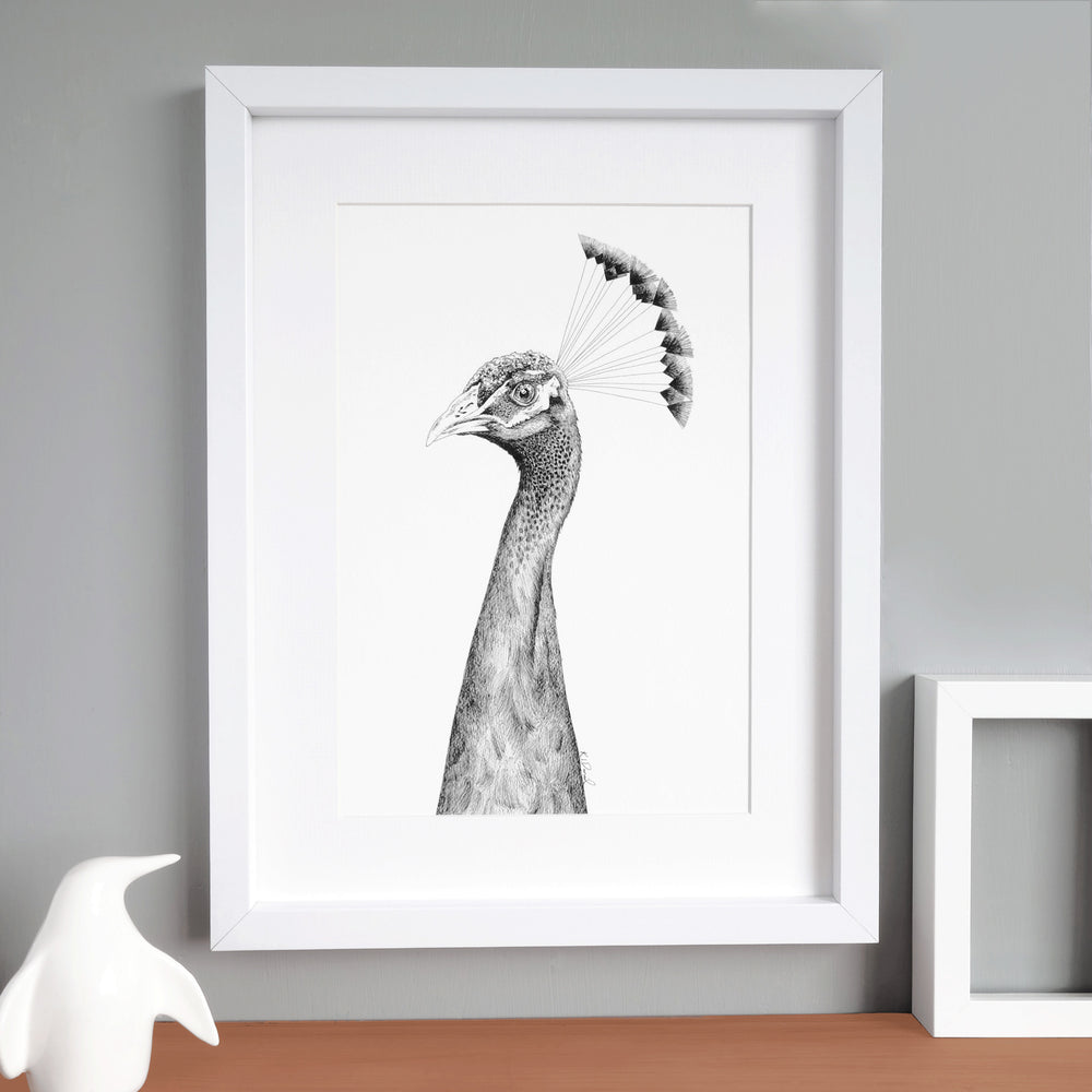 Bird Print 'The Grandiose Peahen'