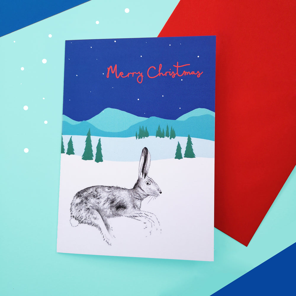 Hare Christmas Card