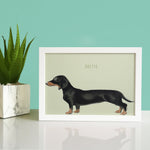 Personalised Sausage Dog Print