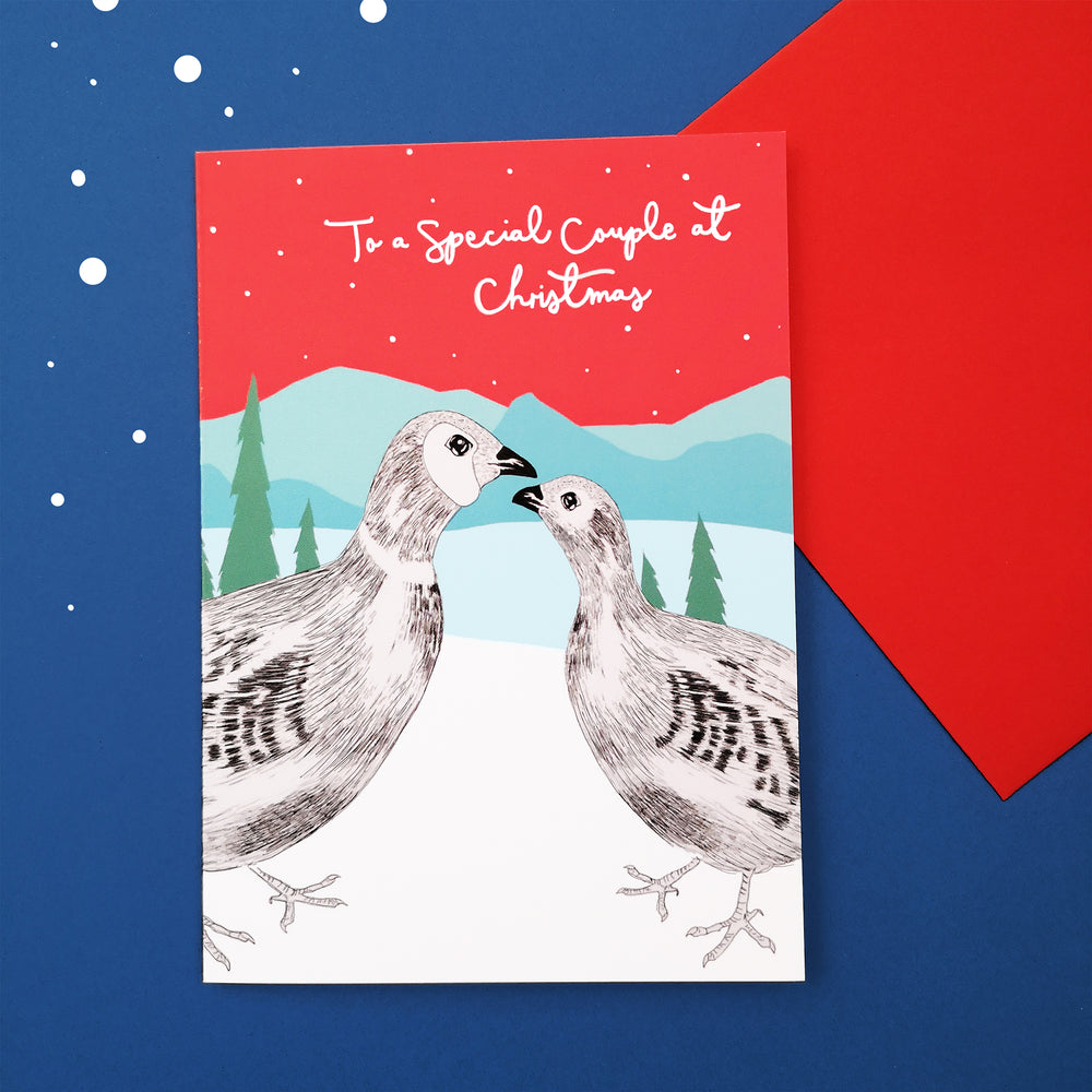 Pheasant Couple Christmas Card