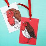 Red Robin Gift Tags