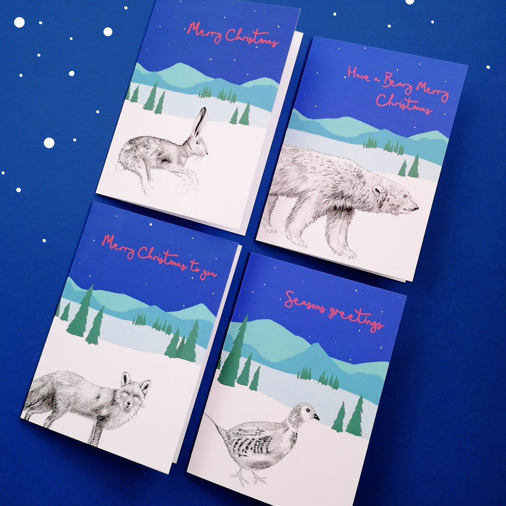 Animals Christmas Card Set