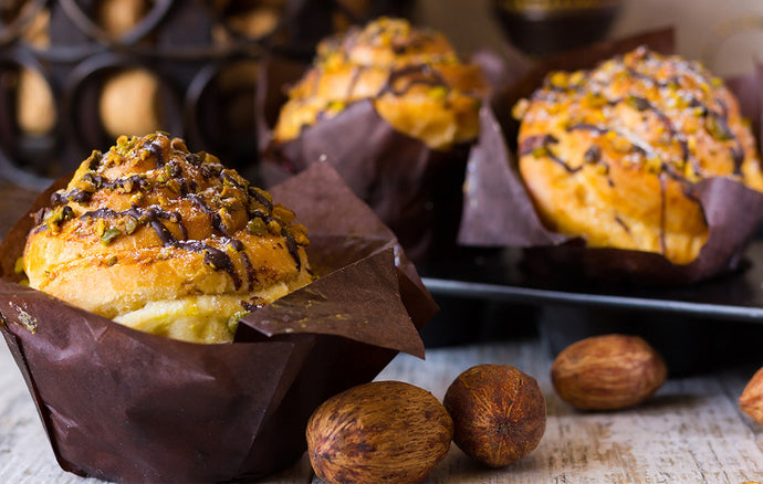 Chocolate and Pistachio Muffins