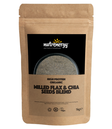 High Protein Milled Organic Flax & Chia Seeds