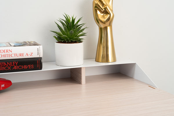 Hideaway Wall Desk | Rift Oak | Expandable Worktop | Ideal for Home-Office