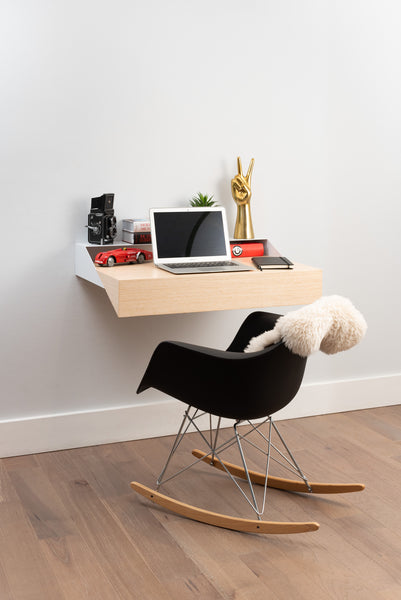 Hideaway Wall Shelf and Desk | Rift Oak | Expandable | Ideal for Small Spaces - Use Discount code