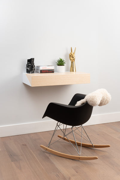 Hideaway Wall Shelf and Desk | Rift Oak | Expandable | Ideal for Small Spaces