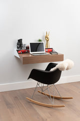 Hideaway Wall Desk | Walnut | Expandable Worktop | Ideal for Home-Office