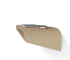 Minimal Wall Desk | Rift Oak | Small | Pull-out Shelf | Ideal for Home-Office