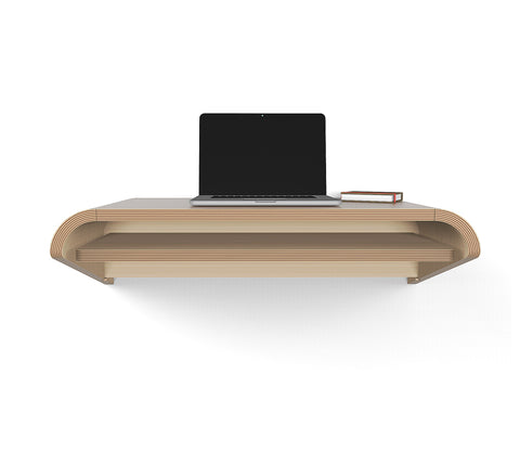 "Hideaway Wall Shelf and Desk | Rift Oak | Expandable | Ideal for Small Spaces - Use Discount code ""SAVE10NOW"" to avail 10% discount - Restocking by 2nd week of Sept'20."