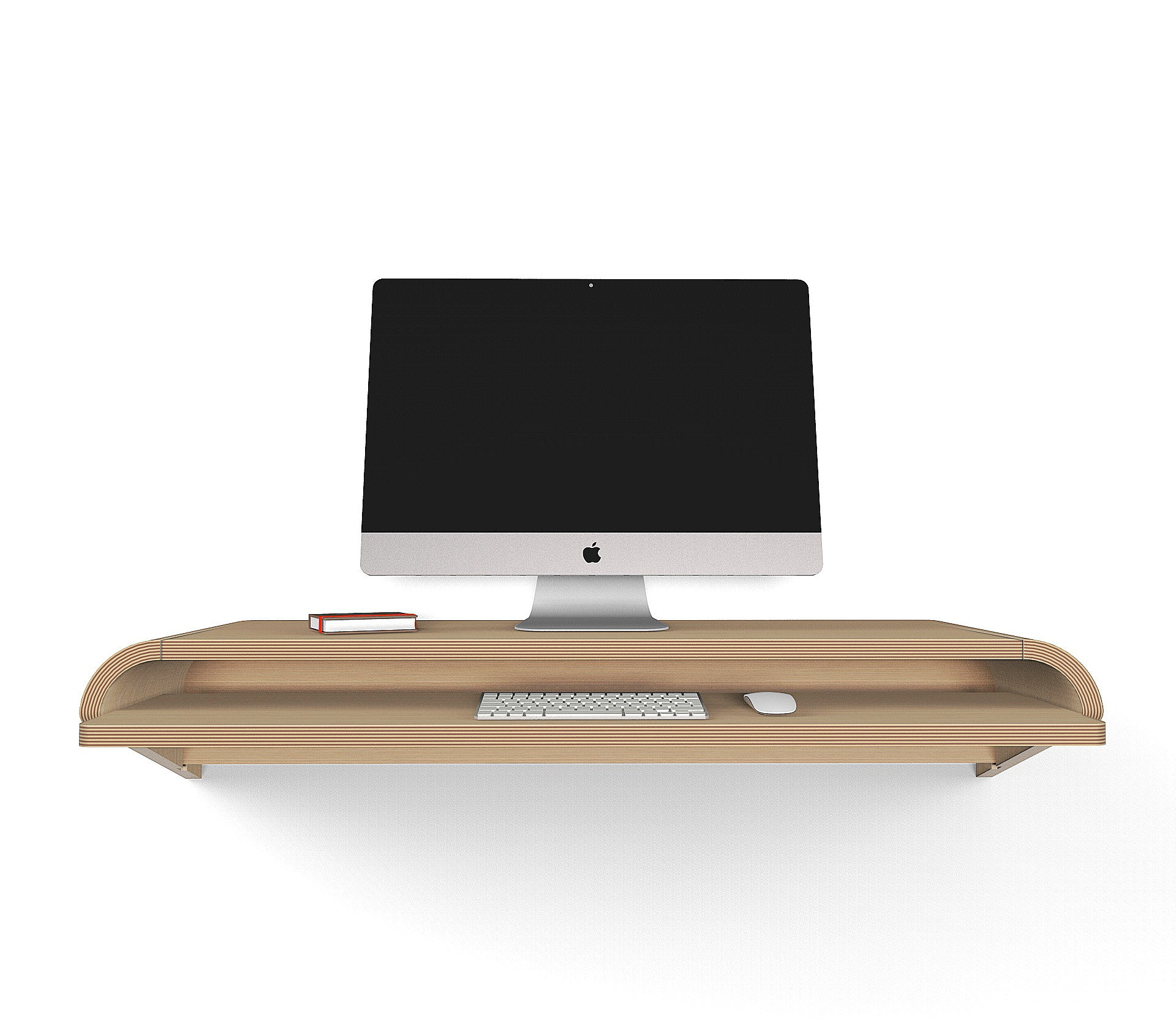 "Minimal Wall Desk | Rift Oak | Large | Ideal for Home Office - In Stock Ships Free - 15% Discount available - Use code ""SAVE15NOW"""