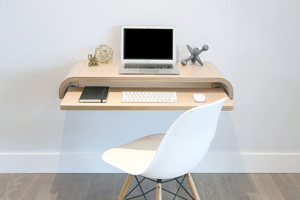 Minimal Wall Desk | Rift Oak | Small | Ideal for Home Office