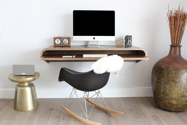 Minimal Wall Desk | Walnut | Large | Pull-out Shelf | Ideal for Home-Office-Use Discount code