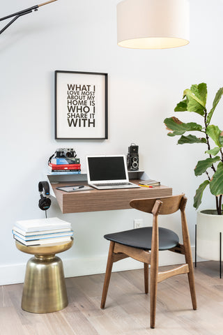 Minimal Wall Desk | Black | Large | Pull-out Shelf | Ideal for Home-Office - OUT OF STOCK - PREORDER DISCOUNT CODE SAVE15NOW