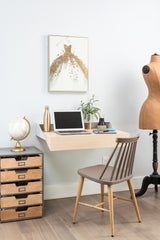 Hideaway Wall Desk | Rift Oak | Ideal for Home Office