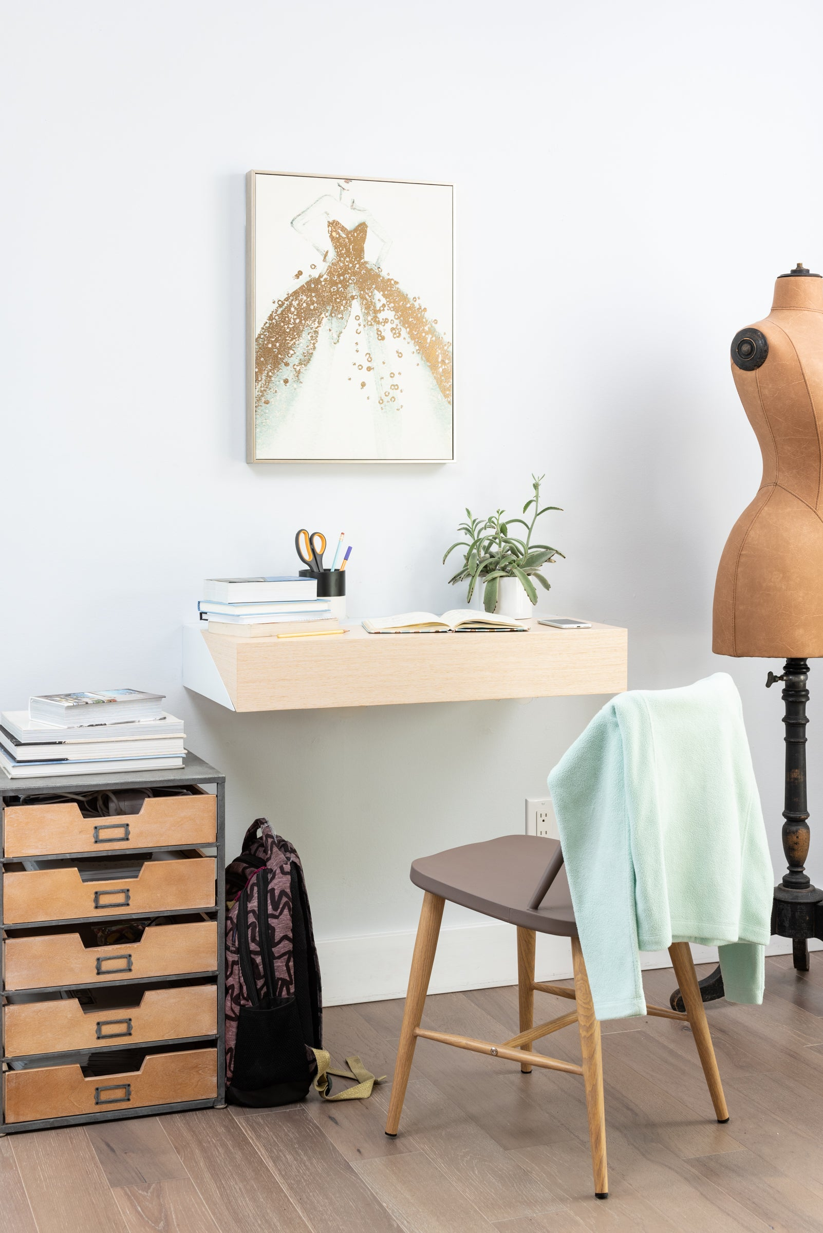 Hideaway Wall Desk Rift Oak Ideal For Home Office Orange22 Modern Contract And Residential Wall Desks And Benches