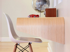 Minimal Wall Desk | Rift Oak | Large | Ideal for Home Office