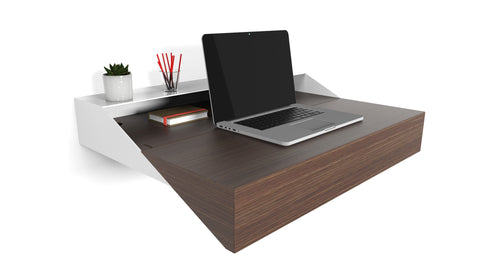 Hideaway Wall Desk | Walnut | Expandable Worktop | Ideal for Home-Office | Available for now for PRE-ORDER. Stock due to arrive early FEB 2019
