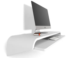 Minimal Wall Desk | White | Large | Ideal for Home Office