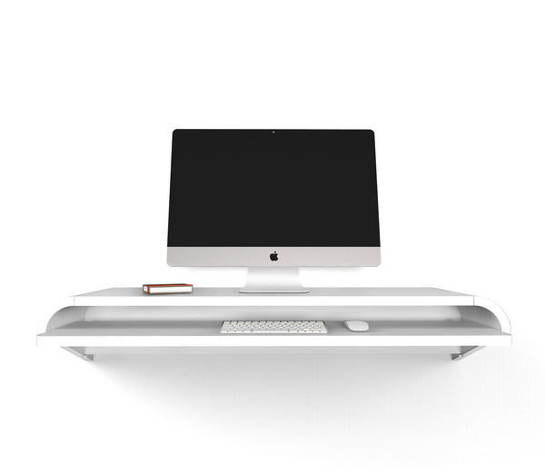 Minimal Wall Desk | White | Large | Pull-out Shelf |Ideal for Home-Office - Preorder Savings code