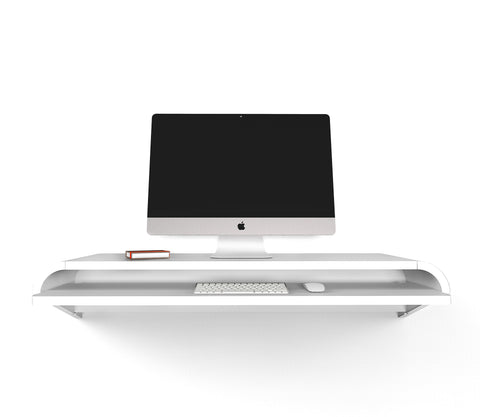 Minimal Wall Desk | Orange Red | Small | Pull-out Shelf | Ideal for Home-Office-OUT OF STOCK - PREORDER DISCOUNT CODE SAVE15NOW