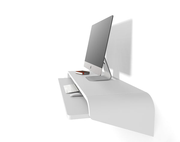 "Minimal Wall Desk | White | Large | Ideal for Home Office - IN STOCK Discount Available 10% Use Code ""SAVE10NOW"