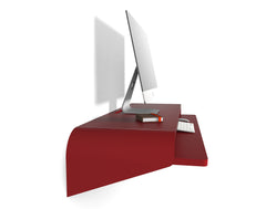 Minimal Wall Desk | Orange Red | Large | - OUT OF STOCK
