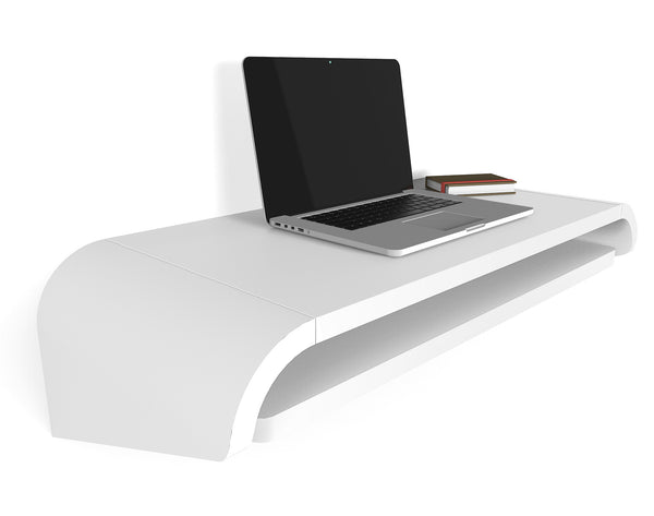 Minimal Wall Desk | White | Small | Ideal for Home Office  -  Out of Stock - restocking 4-5 months
