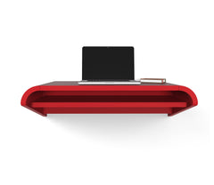 Minimal Wall Desk | Orange Red | Small | Pull-out Shelf | Ideal for Home-Office -  (Item Discontinued)