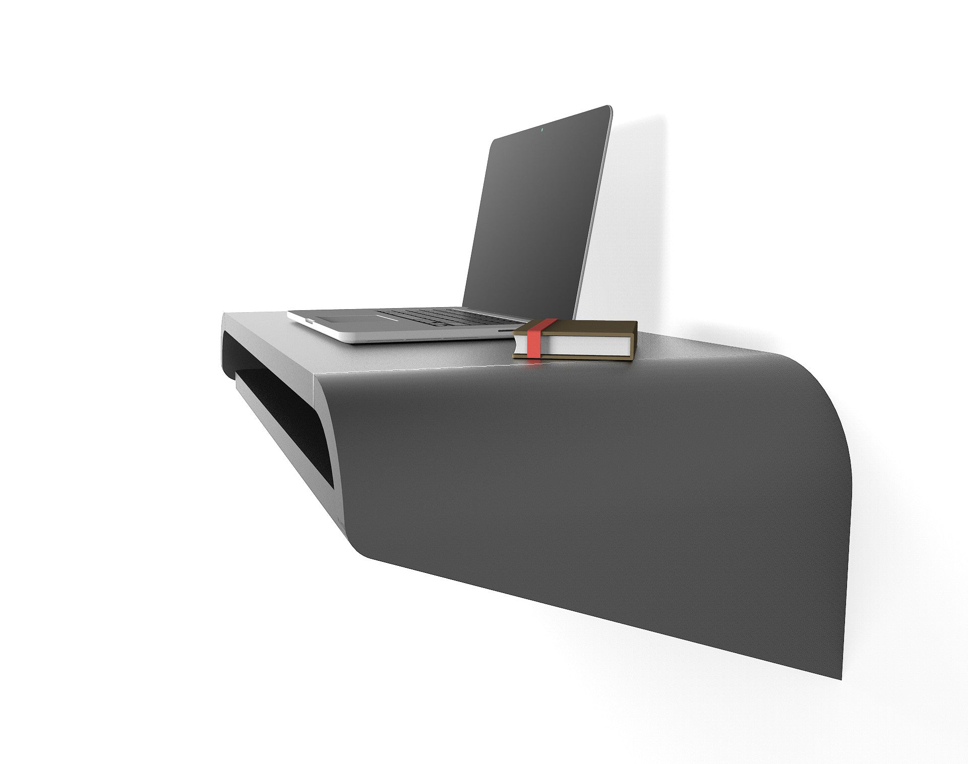 minimal wall desk black small pullout shelf ideal for home