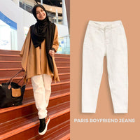 Paris Boyfriend Jeans White