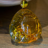 Dominican Green Amber Carving, Buddha