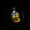 Dominican Blue Amber Pendant, Bird Carved