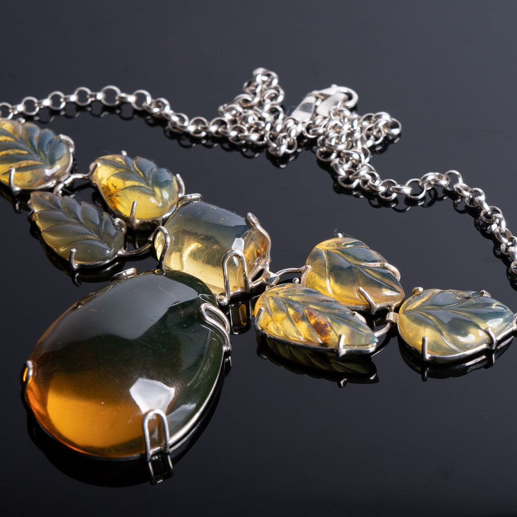 Dominican Blue Amber Necklace