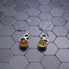Green Amber Earrings, Damari