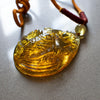 Dominican Green Amber Big Koi Carving