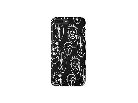 iPhone Case, African Masks Print