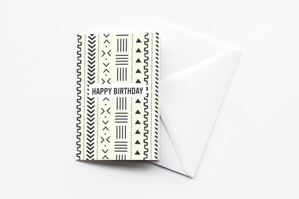 african print birthday card