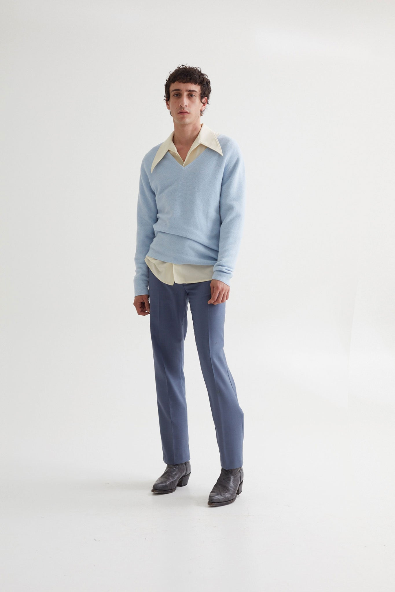 HARVEY TROUSERS DOVE BLUE
