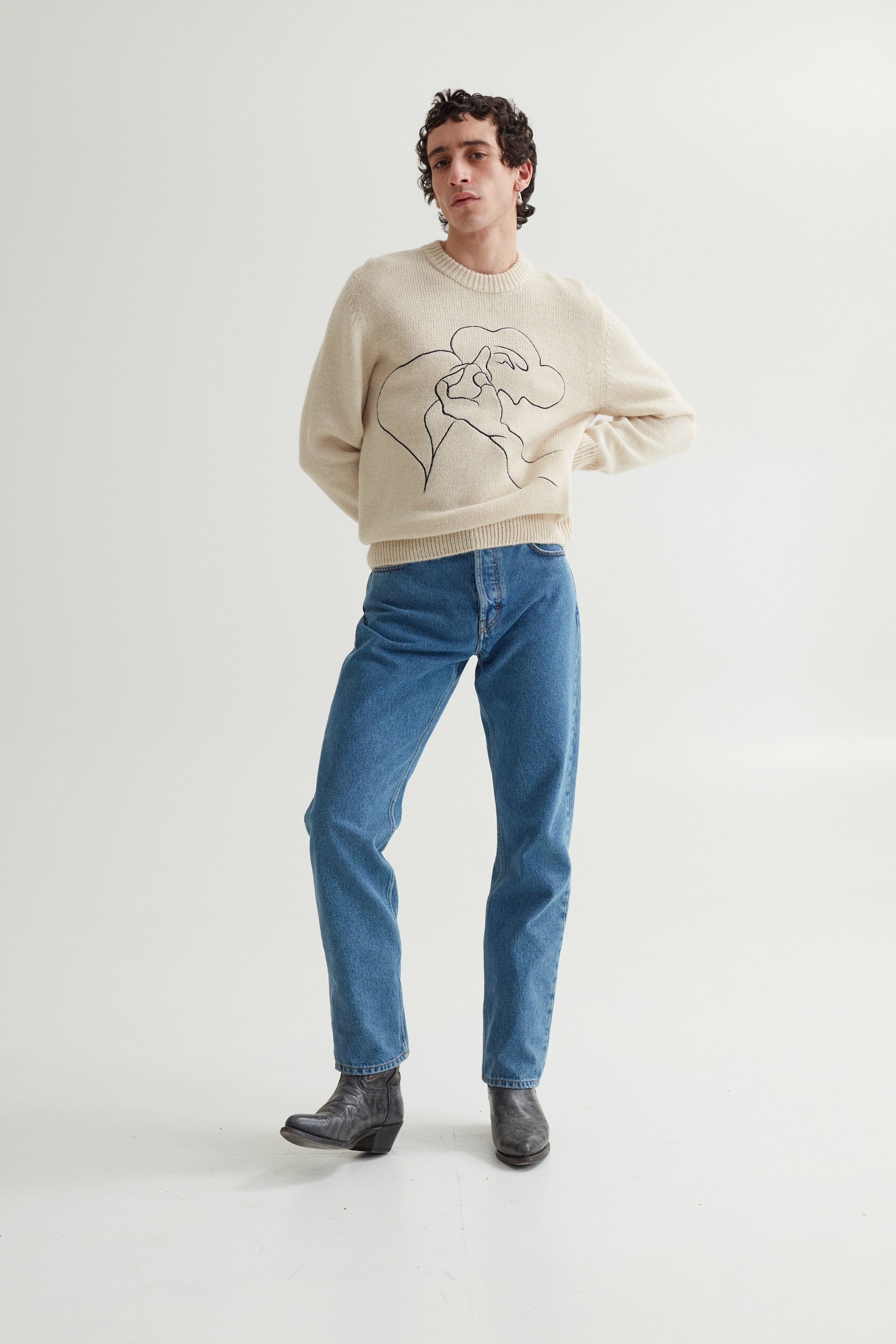 LETH SWEATER BEITI GIFT EMBROIDERY