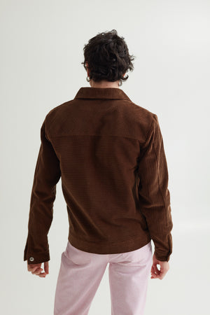ERIC JEAN JACKET CHOCOLATE BROWN