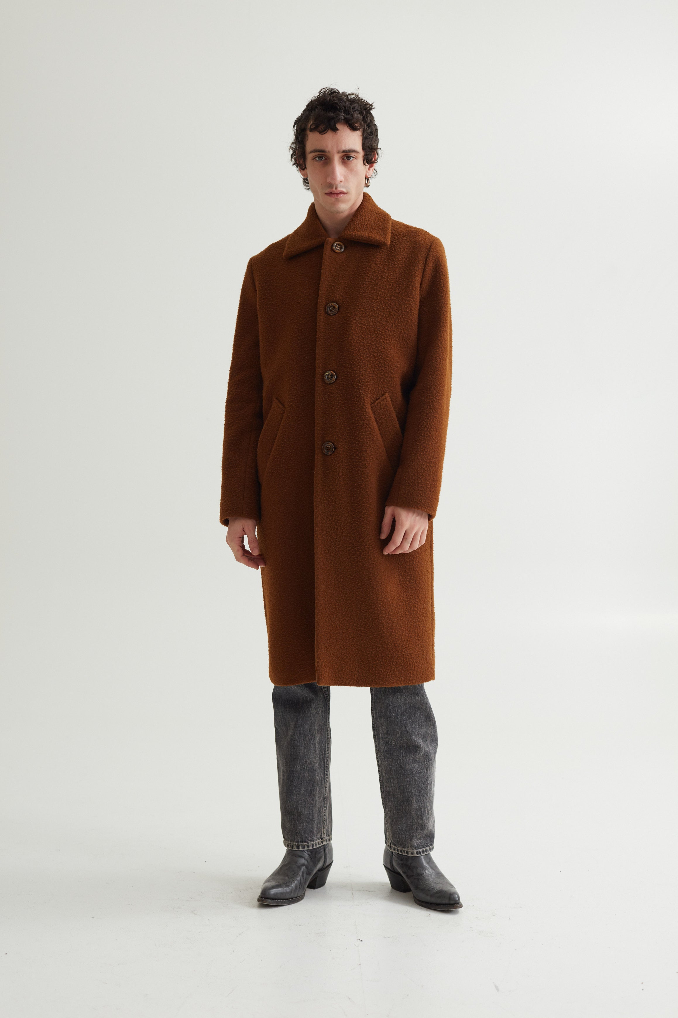 IAN COAT CASENTINO BROWN