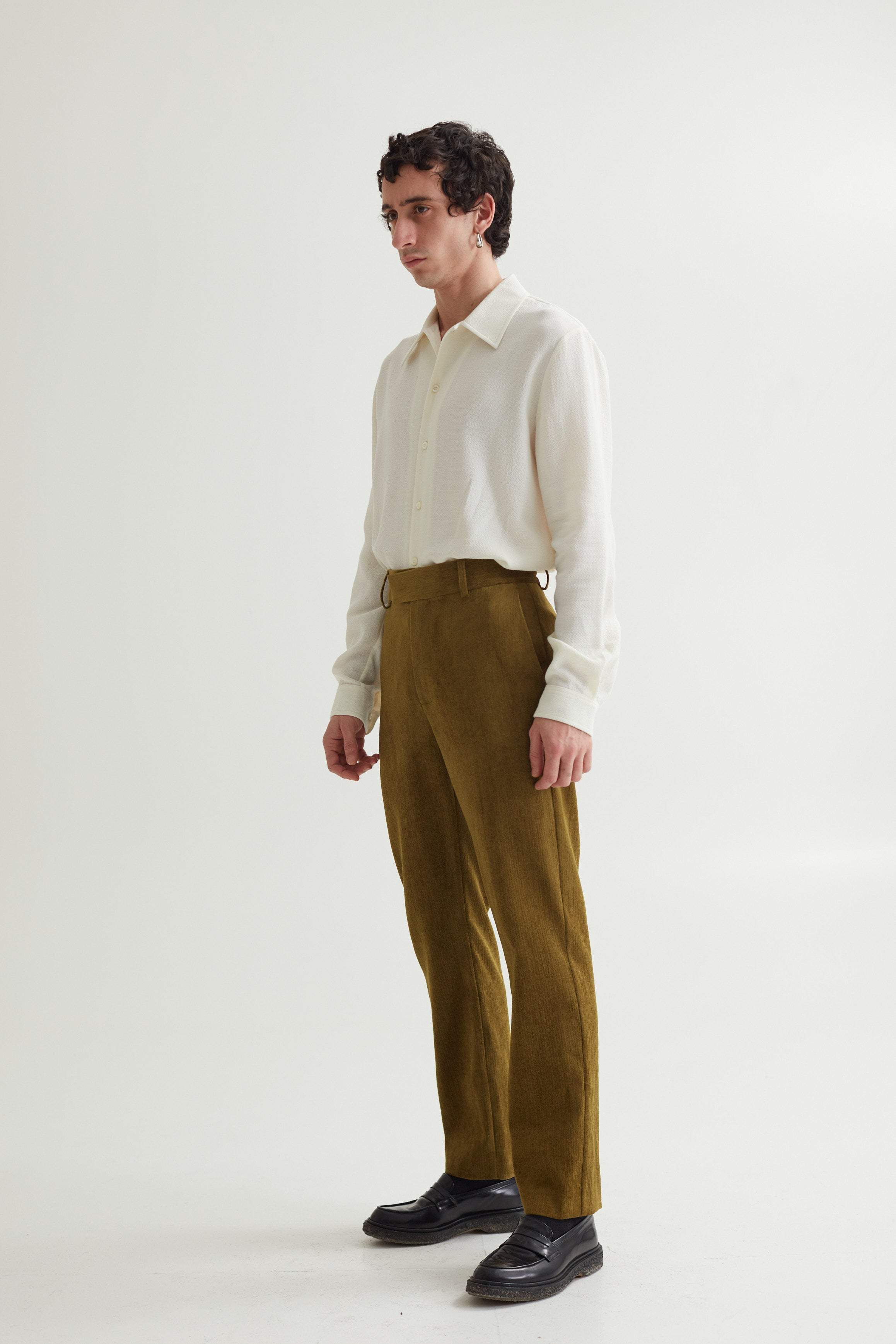 POWER TROUSER IRREGULAR MOSS GREEN