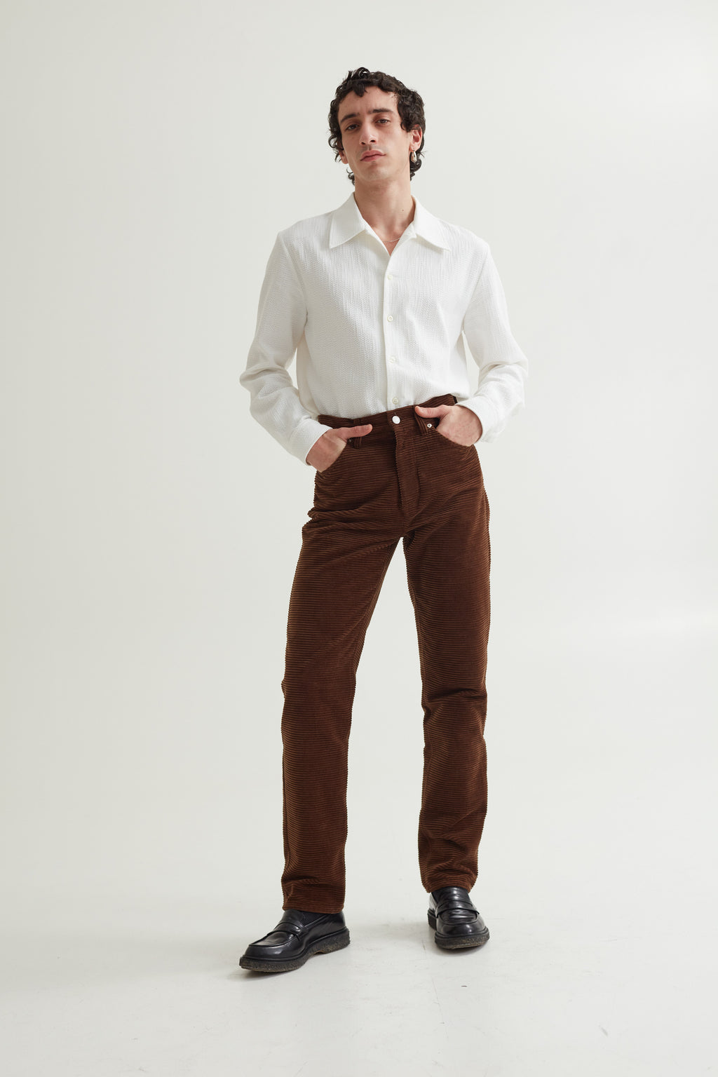 SIN CORD JEANS CHOCOLATE BROWN