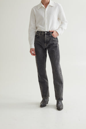STRAIGHT CUT JEANS MARBLE WASH