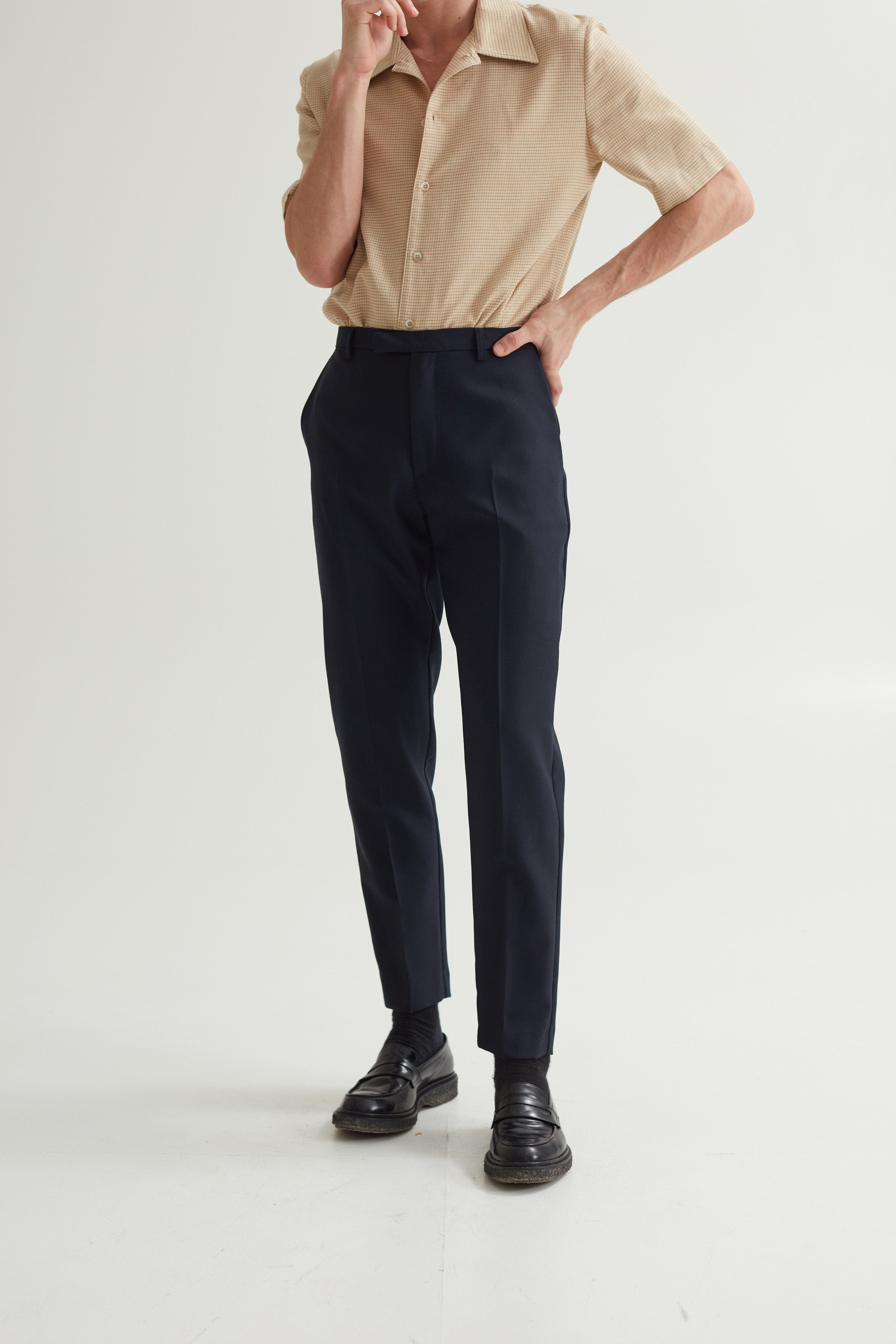 HARVEY SUIT TROUSERS DARK NAVY
